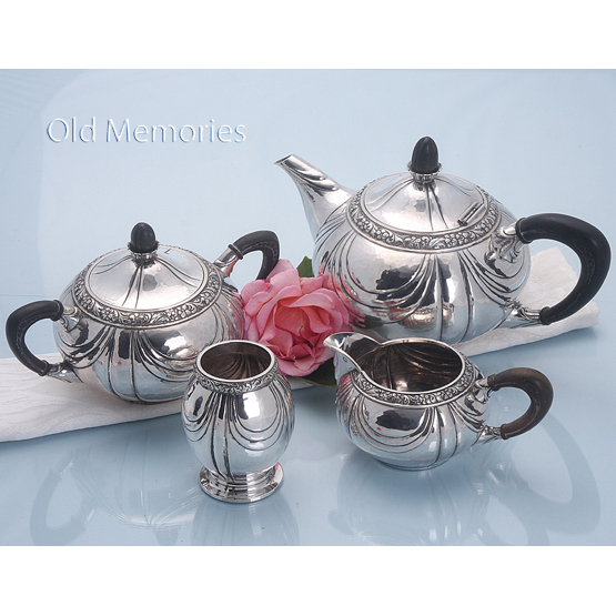 antiek zilveren theeservies