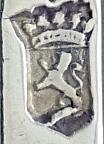 Staande Nederlandse leeuw zilvermerk