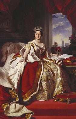 Koningin Victoria in haar jonge jaren.