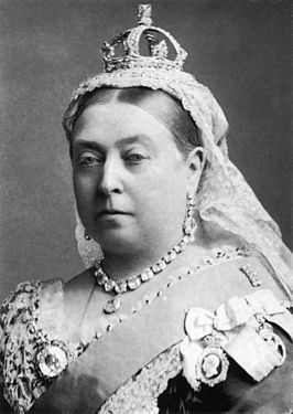 Koningin Victoria op latere leeftijd.