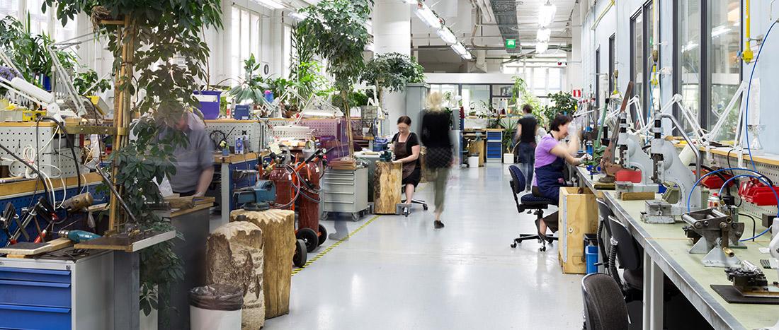 De werkplaats van Lapponia
