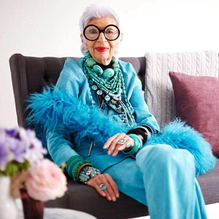 Iris Apfel een fantastisch slijlicoon inmiddels 94 en nog super trendy