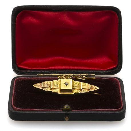 Antieke 9 karaats gouden broche Birmingham 1890 Blog Zilver.nl