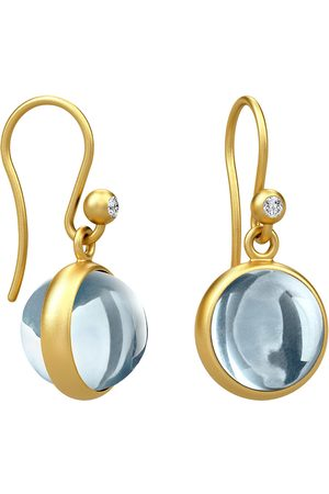 Zilveren oorhangers, verguld Julie Sandlau