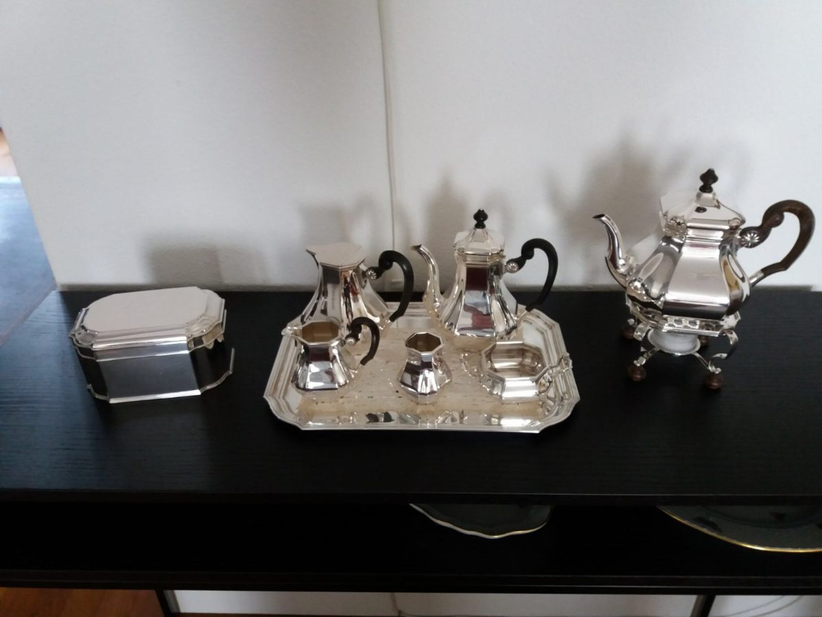 Zilver servies in model Versailles bolpas