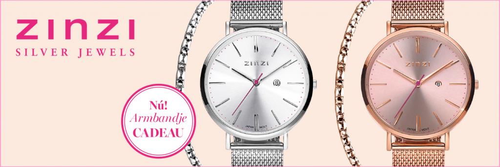 Zinzi horloge actie gratis armbandje