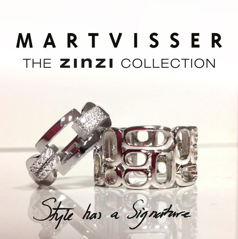 Mart Visser bij Zinzi sieraden collectie
