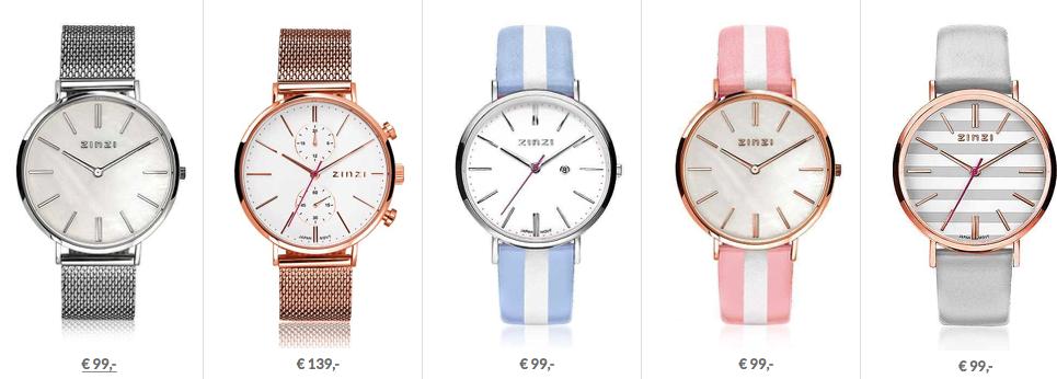 De nieuwe Zinzi horloges.