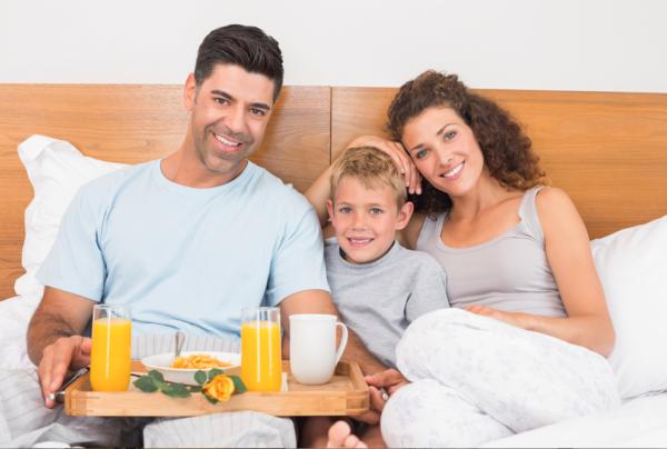 Vaderdagcadeaus en ontbijt op bed