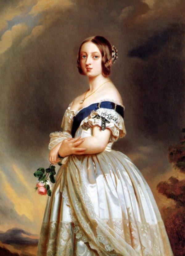 Victoria van Engeland jong geschilderd