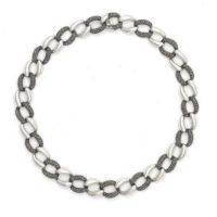 zilveren gourmetschakel collier met markasiet