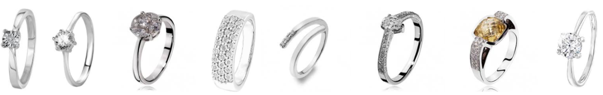 gouden en zilveren ringen met stenen