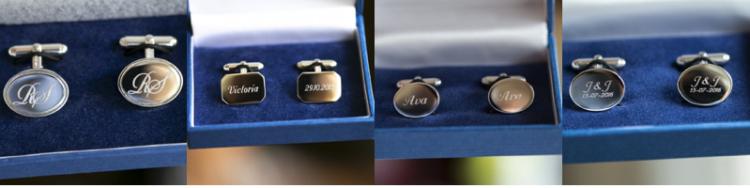 Zilveren manchetknopen graveren door Zilver.nl