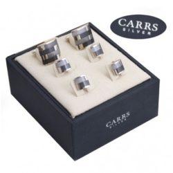 Carrs zilveren manchetknopen met zilveren knopen Zilver.nl