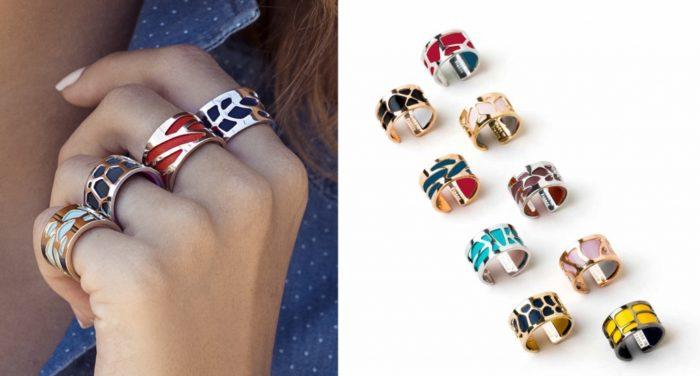 Les Georgettes ringen in verschillende designs en verwisselbare leertjes
