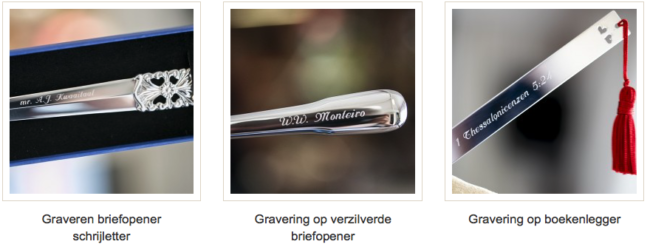 Gegraveerde relatiegeschenken bij Zilver.nl