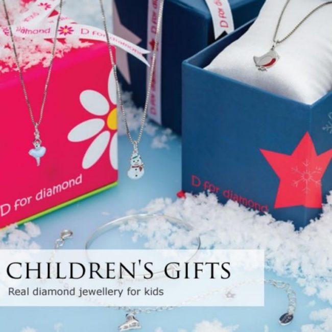 D for Diamond kindersieraden bij Zilver.nl