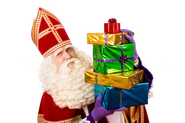 Sinterklaas met cadeautjes van Zilver.nl