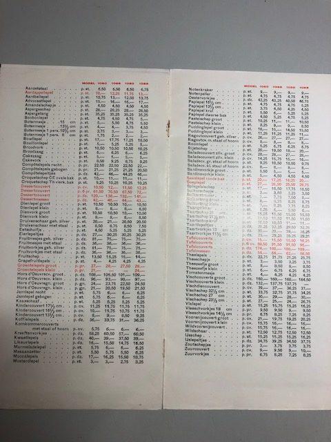 Catalogus zilver schepwerk
