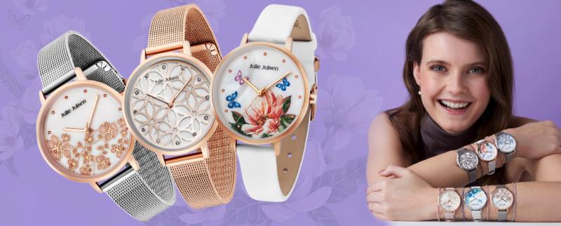 Julie Julsen horloges met prachtige bloem patronen.
