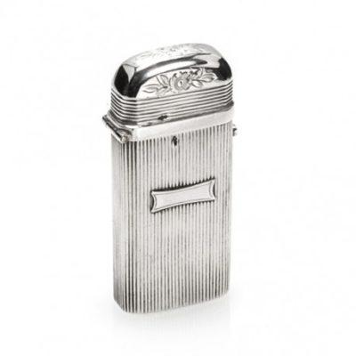 antiek zilveren tondeldoosje rib Zilver.nl