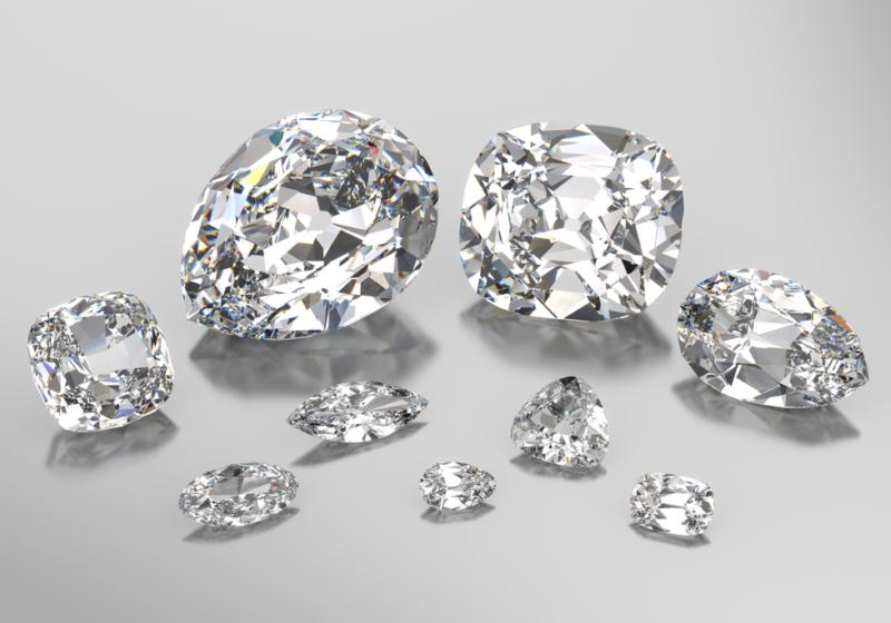 De negen diamanten waarin de cullinan I is geslepen