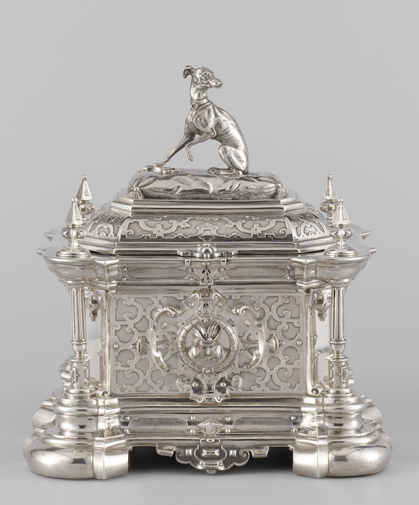 Zilveren juwelenkist van de wereldtentoonstelling in Crystal Palace Londen